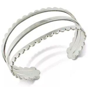 LUCKY BRAND Silver-Tone Scallop Cuff Bracelet